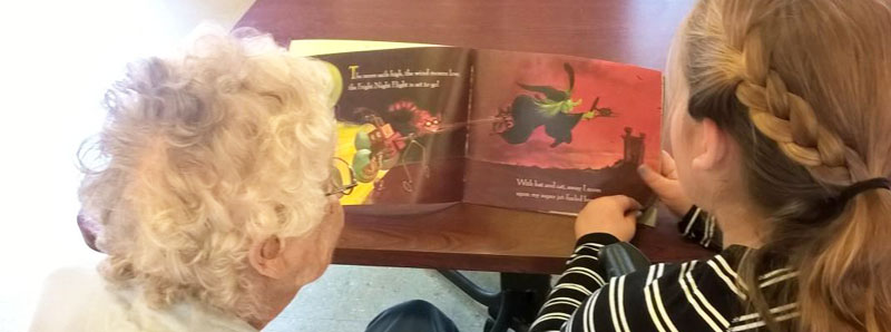 Residents reading to children